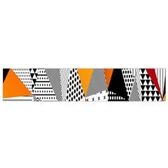 Contrast Hero Triangle Plaid Circle Wave Chevron Orange White Black Line Flano Scarf (Small)