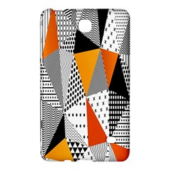 Contrast Hero Triangle Plaid Circle Wave Chevron Orange White Black Line Samsung Galaxy Tab 4 (7 ) Hardshell Case