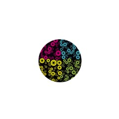 Circle Ring Color Purple Pink Yellow Blue 1  Mini Magnets