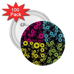 Circle Ring Color Purple Pink Yellow Blue 2.25  Buttons (100 pack)