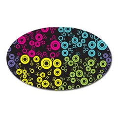 Circle Ring Color Purple Pink Yellow Blue Oval Magnet