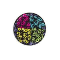Circle Ring Color Purple Pink Yellow Blue Hat Clip Ball Marker (10 pack)