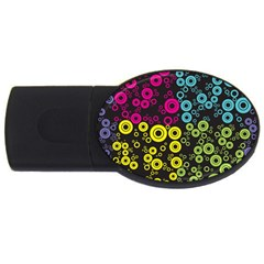 Circle Ring Color Purple Pink Yellow Blue Usb Flash Drive Oval (4 Gb)