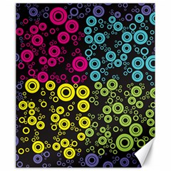 Circle Ring Color Purple Pink Yellow Blue Canvas 20  x 24
