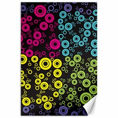 Circle Ring Color Purple Pink Yellow Blue Canvas 24  x 36