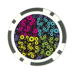 Circle Ring Color Purple Pink Yellow Blue Poker Chip Card Guard