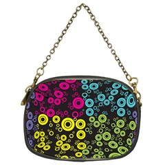 Circle Ring Color Purple Pink Yellow Blue Chain Purses (One Side)