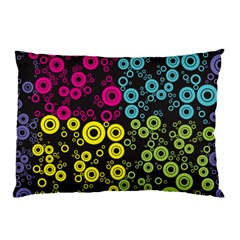 Circle Ring Color Purple Pink Yellow Blue Pillow Case