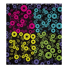 Circle Ring Color Purple Pink Yellow Blue Shower Curtain 66  X 72  (large)