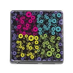 Circle Ring Color Purple Pink Yellow Blue Memory Card Reader (Square)