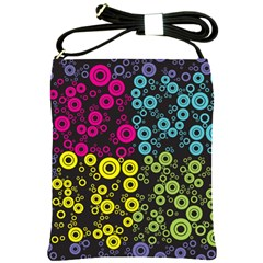Circle Ring Color Purple Pink Yellow Blue Shoulder Sling Bags
