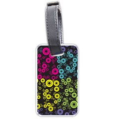Circle Ring Color Purple Pink Yellow Blue Luggage Tags (Two Sides)