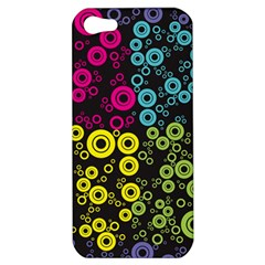 Circle Ring Color Purple Pink Yellow Blue Apple iPhone 5 Hardshell Case