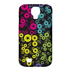 Circle Ring Color Purple Pink Yellow Blue Samsung Galaxy S4 Classic Hardshell Case (PC+Silicone)