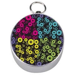 Circle Ring Color Purple Pink Yellow Blue Silver Compasses
