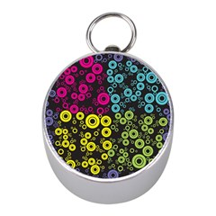 Circle Ring Color Purple Pink Yellow Blue Mini Silver Compasses