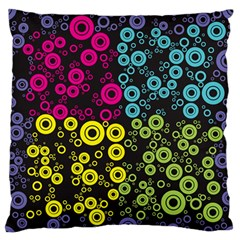 Circle Ring Color Purple Pink Yellow Blue Standard Flano Cushion Case (Two Sides)