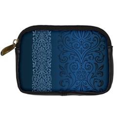 Fabric Blue Batik Digital Camera Cases