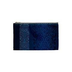 Fabric Blue Batik Cosmetic Bag (Small)
