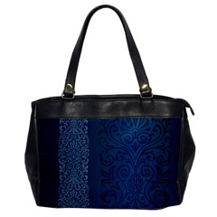 Fabric Blue Batik Office Handbags
