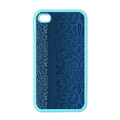 Fabric Blue Batik Apple iPhone 4 Case (Color)