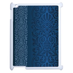 Fabric Blue Batik Apple Ipad 2 Case (white)