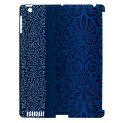 Fabric Blue Batik Apple iPad 3/4 Hardshell Case (Compatible with Smart Cover)