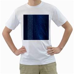 Fabric Blue Batik Men s T-Shirt (White)