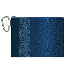 Fabric Blue Batik Canvas Cosmetic Bag (XL)