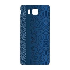 Fabric Blue Batik Samsung Galaxy Alpha Hardshell Back Case