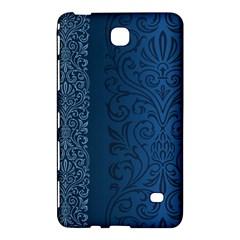 Fabric Blue Batik Samsung Galaxy Tab 4 (8 ) Hardshell Case