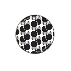 Floral Geometric Circle Black White Hole Hat Clip Ball Marker (10 pack)