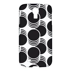 Floral Geometric Circle Black White Hole Samsung Galaxy S4 I9500/I9505 Hardshell Case