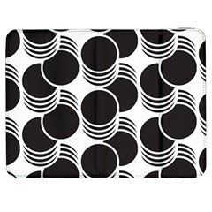 Floral Geometric Circle Black White Hole Samsung Galaxy Tab 7  P1000 Flip Case