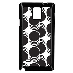 Floral Geometric Circle Black White Hole Samsung Galaxy Note 4 Case (Black)