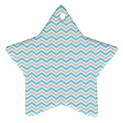 Free Plushie Wave Chevron Blue Grey Gray Ornament (Star)