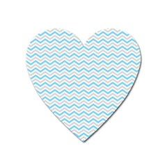 Free Plushie Wave Chevron Blue Grey Gray Heart Magnet