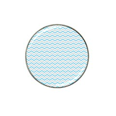 Free Plushie Wave Chevron Blue Grey Gray Hat Clip Ball Marker (4 Pack)