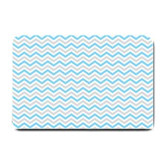 Free Plushie Wave Chevron Blue Grey Gray Small Doormat