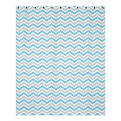 Free Plushie Wave Chevron Blue Grey Gray Shower Curtain 60  x 72  (Medium)