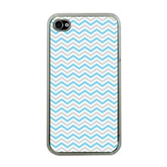 Free Plushie Wave Chevron Blue Grey Gray Apple Iphone 4 Case (clear)