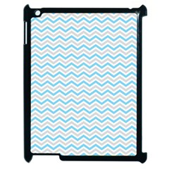 Free Plushie Wave Chevron Blue Grey Gray Apple iPad 2 Case (Black)