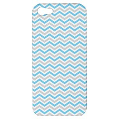 Free Plushie Wave Chevron Blue Grey Gray Apple iPhone 5 Hardshell Case