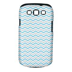 Free Plushie Wave Chevron Blue Grey Gray Samsung Galaxy S III Classic Hardshell Case (PC+Silicone)