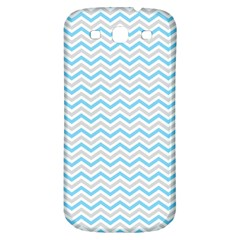 Free Plushie Wave Chevron Blue Grey Gray Samsung Galaxy S3 S III Classic Hardshell Back Case