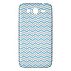 Free Plushie Wave Chevron Blue Grey Gray Samsung Galaxy Mega 5.8 I9152 Hardshell Case