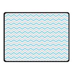 Free Plushie Wave Chevron Blue Grey Gray Double Sided Fleece Blanket (Small)