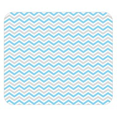 Free Plushie Wave Chevron Blue Grey Gray Double Sided Flano Blanket (small)