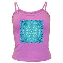 Flower Leaf Floral Love Heart Sunflower Rose Blue White Dark Spaghetti Tank