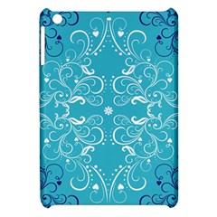 Flower Leaf Floral Love Heart Sunflower Rose Blue White Apple iPad Mini Hardshell Case